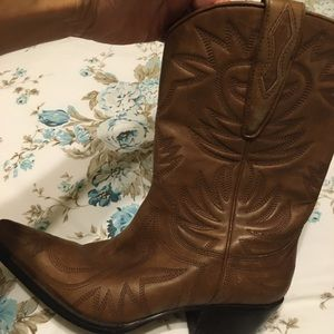 Guess Marciano punk leather Western Boots